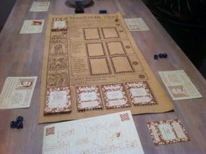 Montsegur 1244 board and character sheets