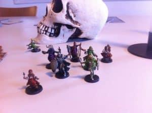Descent: Journeys in the Dark painted hero miniatures