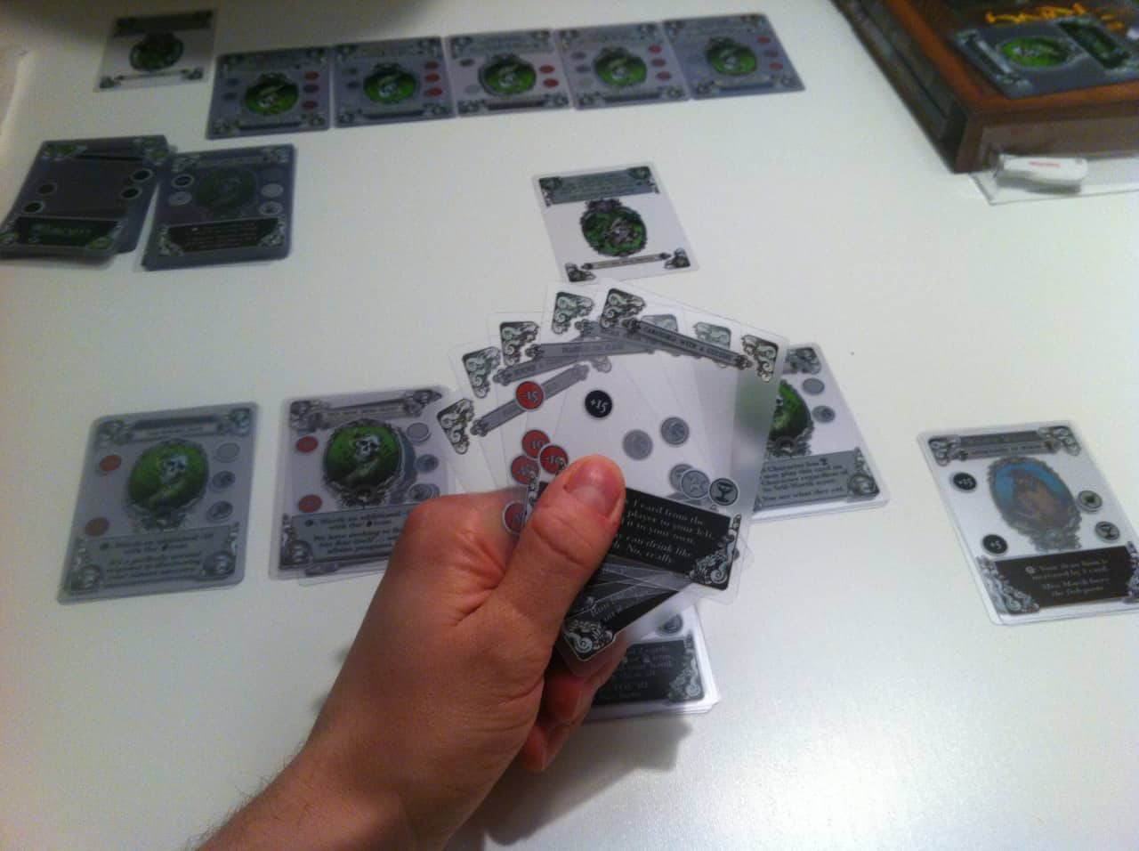 Gloom hand full of cards