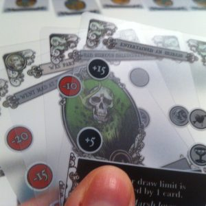 Gloom card with skull