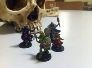 Descent: Journeys in the Dark painted miniatures and skull