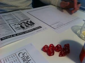Call of Cthulhu red dice