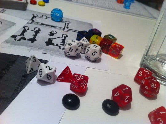 The Savage World of Solomon Kane red and white dice