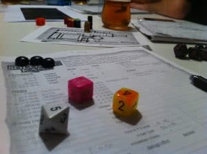 The Savage World of Solomon Kane colourful dice