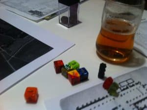The Savage World of Solomon Kane dice and gummy bear pawns