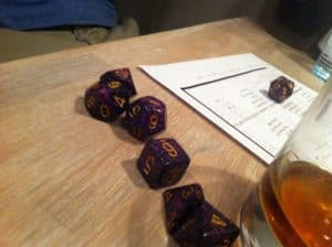 Call of Cthulhu purple dice