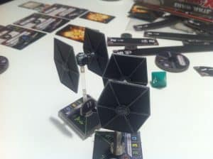 X-Wing Miniatures tie fighters crashing