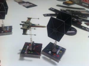 X-Wing Miniatures X-wing and Tie fighter combat